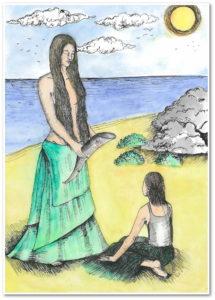 Obrázek, Setkání Evy s Živou